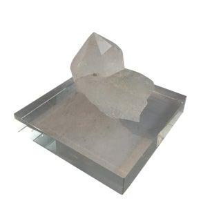 Natural Crystal on Base For Sale