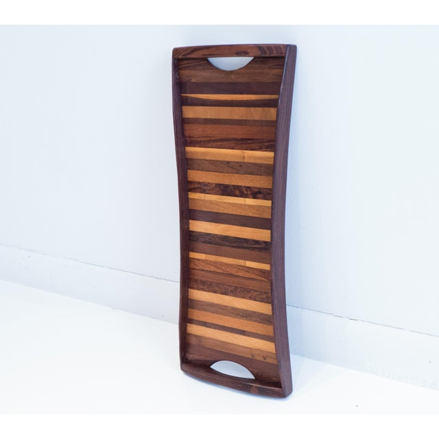 Mid-Century Modern Don Shoemaker Exotic Woods Tray For Sale - Image 3 of 10