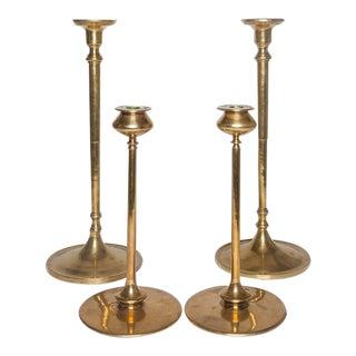 Pair of Jasper Tall Brass Candlesticks