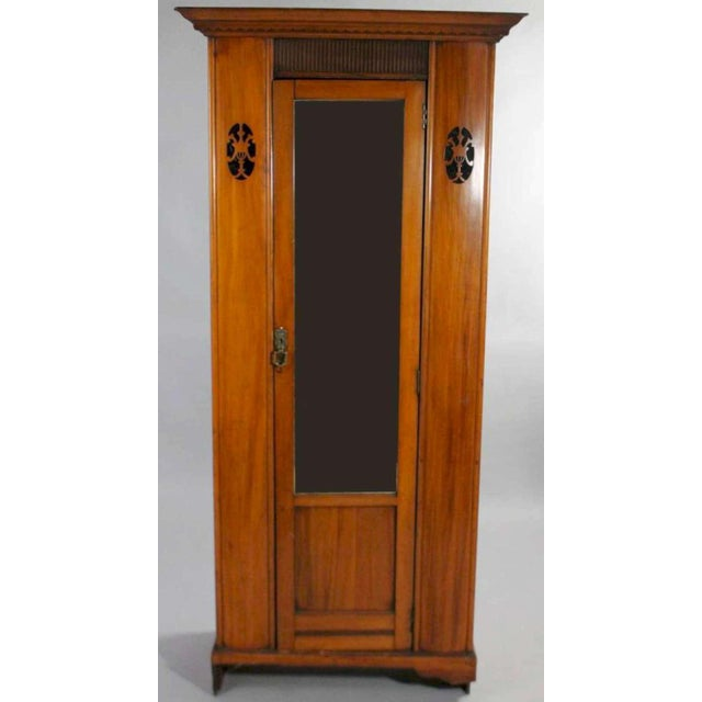 Early 20th Century Antique Aesthetic Movement Mirrored Wardrobe For Sale - Image 12 of 12