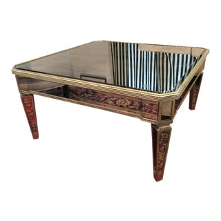"Vintage Horchow ""Amelie"" Mirrored Coffee Table For Sale"