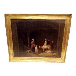 19th Century English Oil on Canvas Painting