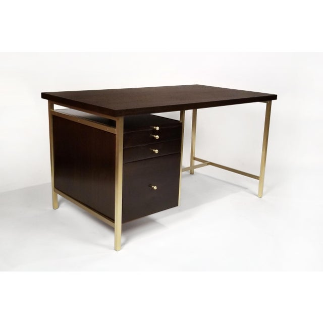 Paul McCobb Brass & Mahogany Desk for the Connoisseur Collection H. Sacks & Sons For Sale In Dallas - Image 6 of 11