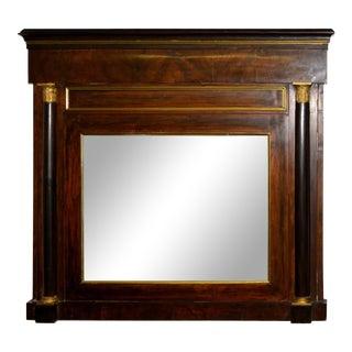 Danish Empire Mahogany Overmantel Mirror For Sale