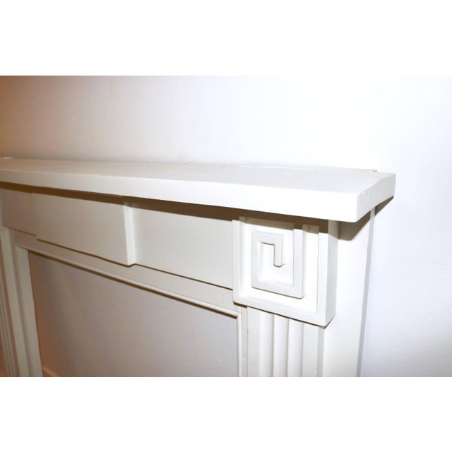 Mid 19th Century Restored 19th C. Greek Revival White Primed Fireplace Mantel Mantle For Sale - Image 5 of 11
