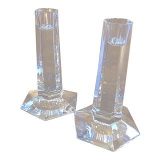 Frank Lloyd Wright for Tiffany's Candle Holders - A Pair