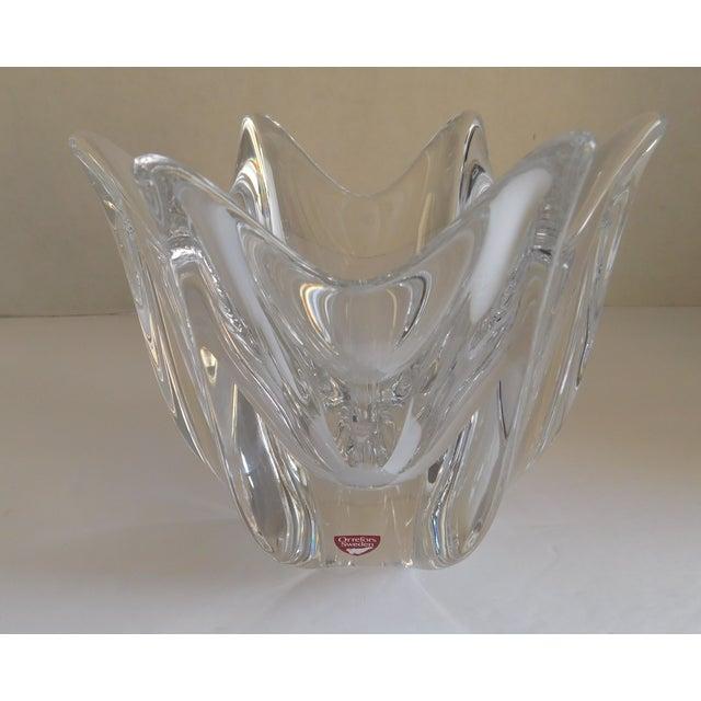 Vintage Orrefors Crystal Bowl For Sale In New York - Image 6 of 12