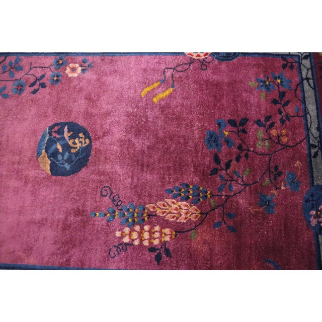 Antique Art Deco Chinese Rug For Sale - Image 9 of 11