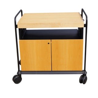Kitchen Birch Rolling Cart & Butcher Block Mr11535 For Sale