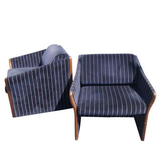 1970s Vintage Striped Brayton Lounge Chairs- A Pair Preview