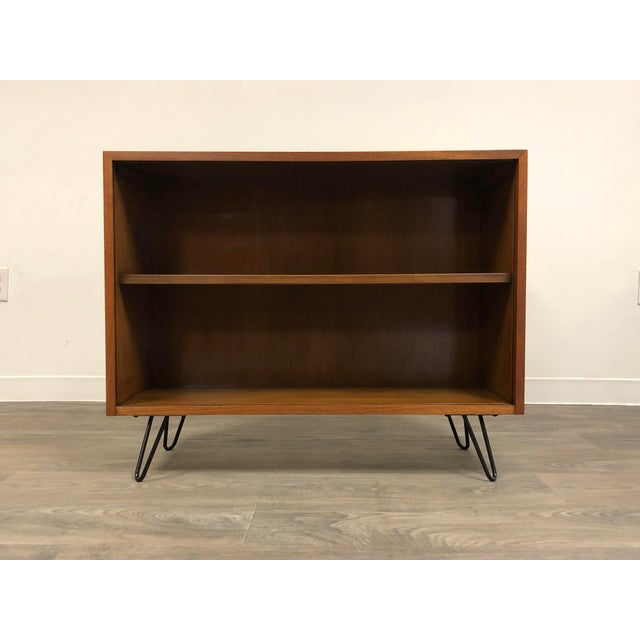 Black Walnut Mid Century Modern Bookcase For Sale - Image 8 of 8