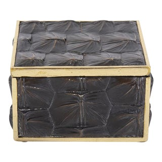 Faux Tortoise Shell Box - Small For Sale