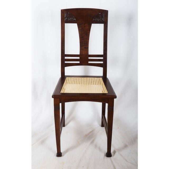 Set of Four German Art Nouveau Dining Chairs For Sale - Image 10 of 11