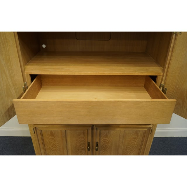"""Stanley Furniture Stanley Furniture Pickled Oak 42"""" Door Chest/Armoire For Sale - Image 4 of 13"""