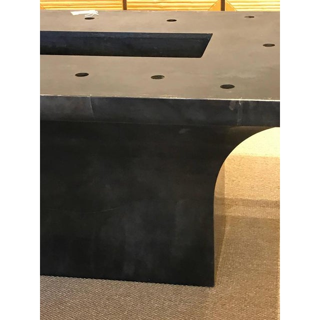 "Stunning Goatskin ""Shagreen"" Lacquered Dining Table - Image 6 of 8"