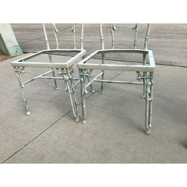 1960s Mid-Century Modern Kessler Industries Cast Aluminum Faux Bamboo Dining Set - 5 Piece Set For Sale - Image 11 of 12
