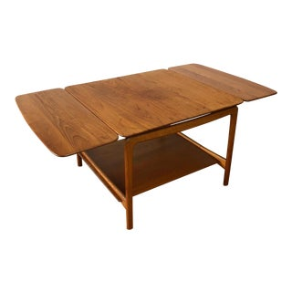 Peter Hvidt for John Stuart Inc. Solid Teak Dropleaf Coffee Table For Sale