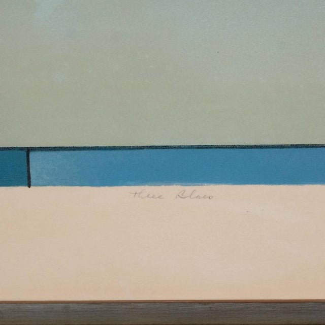 American Ludwig Sander Geometric Color Field Lithograph For Sale In New York - Image 6 of 10