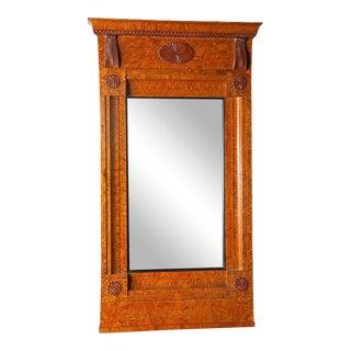 Biedermeier Burl Wood Mirror For Sale
