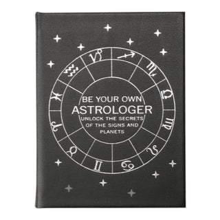 """Be Your Own Astrologer"", Bonded Leather Book in Black For Sale"