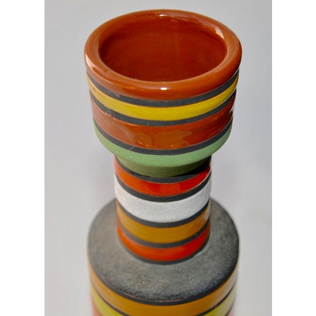 Mid-Century Modern Mid Century Aldo Londi Stripe Vase For Sale - Image 3 of 6