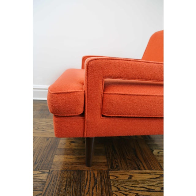 Textile Mid-Century Modern Edward Wormley for Dunbar Club Chairs - a Pair For Sale - Image 7 of 8