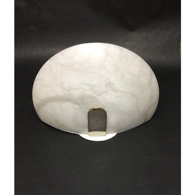 Vintage Lightolier Alabaster and Brass Wall Sconce For Sale - Image 11 of 11