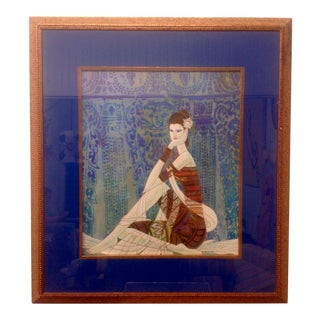 "Kuang Shao Ting ""Peaceful Moment"" Serigraph For Sale"