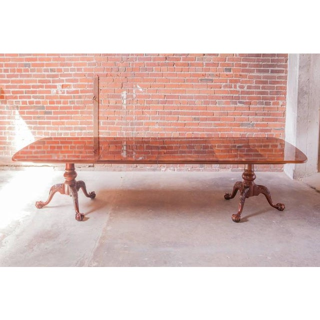 Henredon Georgian Two Pedestal Mahogany Dining Table - Image 3 of 10