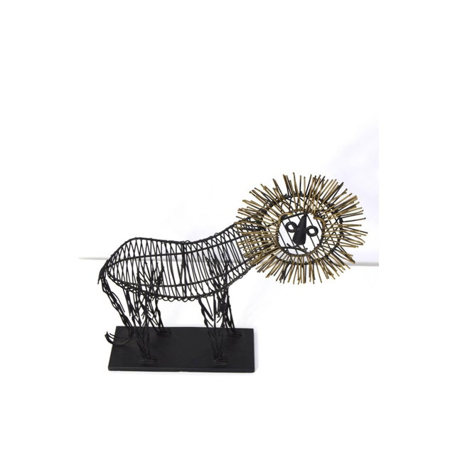 Curtis Jere Style Sculpture of a Lion - Image 4 of 8