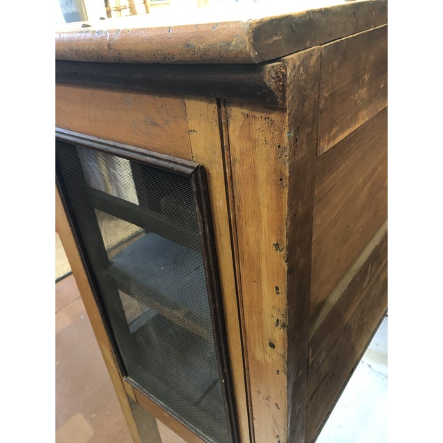 Rare Primitive Pie Safe With Original Paint and Hardware Circa 1900 For Sale - Image 12 of 13