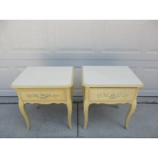 20th Century French Country Nightstands - a Pair Preview