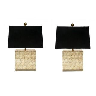 Capiz Shell Table Lamps - A Pair