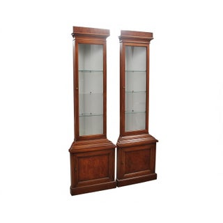1960s Drexel Lighted Corner Cabinets - a Pair Preview