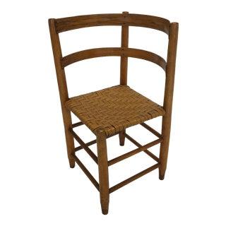 Antique Shaker Split Oak Corner Chair