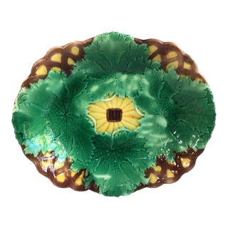 19th Century Victorian Leaves Platter Wedgwood For Sale