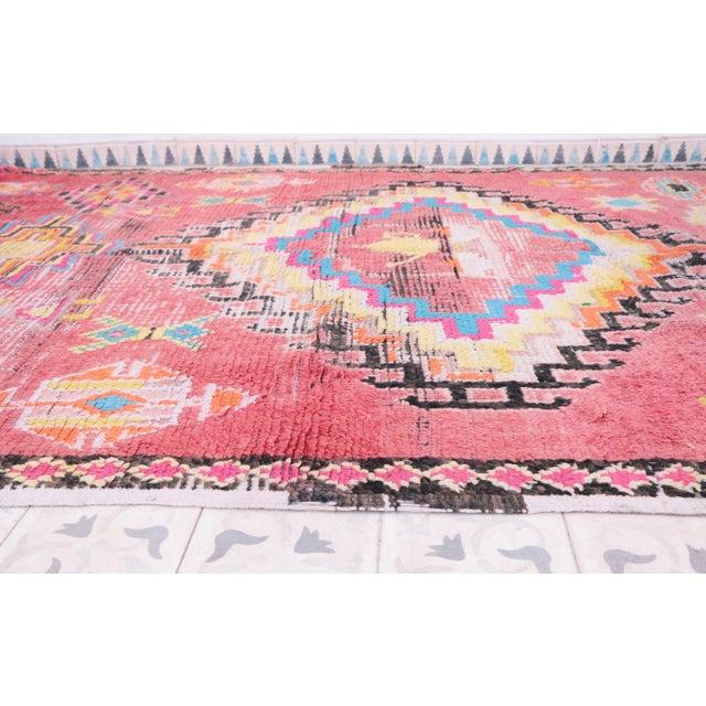 "Boujad Vintage Moroccan Rug -- 5'11"" x 8'2"" - Image 3 of 4"