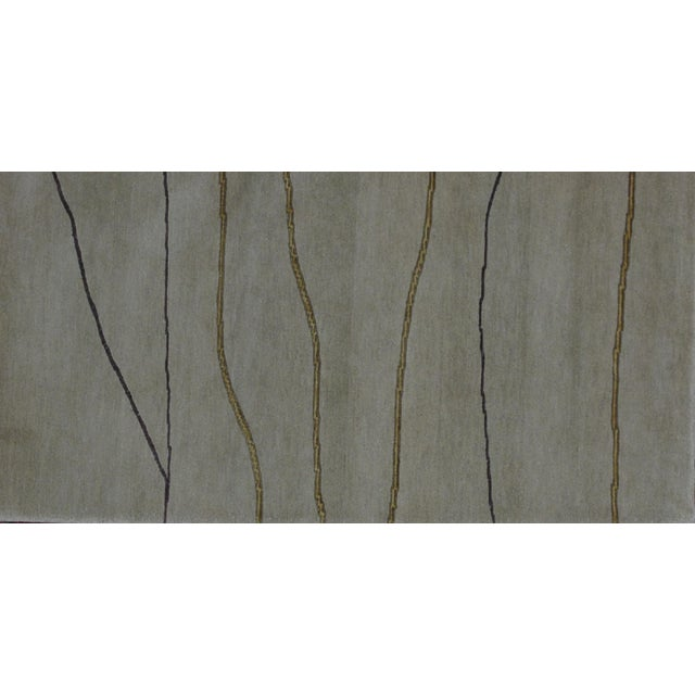 Soumak Design Hand Woven Wool Rug - 6' x 9' - Image 3 of 6