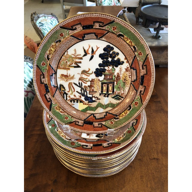 Staffordshire Medium Sized Plates -Set of 14 For Sale - Image 10 of 10