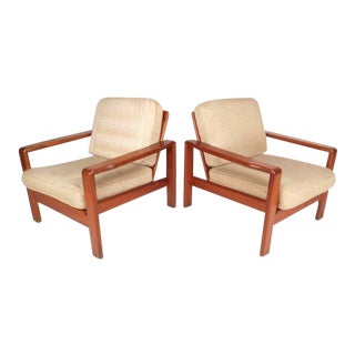Mid-Century Modern Teak Lounge Chairs - A Pair For Sale