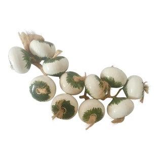 Vintage Italian Ceramic Garlic Bulb String For Sale