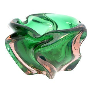 1960s Glass Ashtray Designed by J. Hospodka Chribska Sklarna For Sale