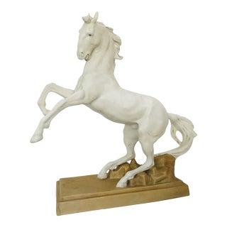 1920s Vintage Royal Dux Porcelain Horse Sculpture For Sale