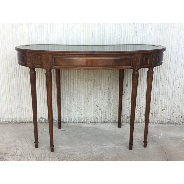 Brown Coromandel and Marquetry Inlaid Victorian Period Kidney Lady Desk For Sale - Image 8 of 13