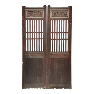 Chinese Country Doors With Original Patina - a Pair