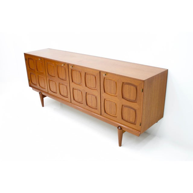 1960s Graphic Teak Sideboard by Rastad & Relling for Bahus Norway 1960s For Sale - Image 5 of 9