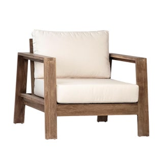 Outdoor Teak Chair W/Cushions For Sale