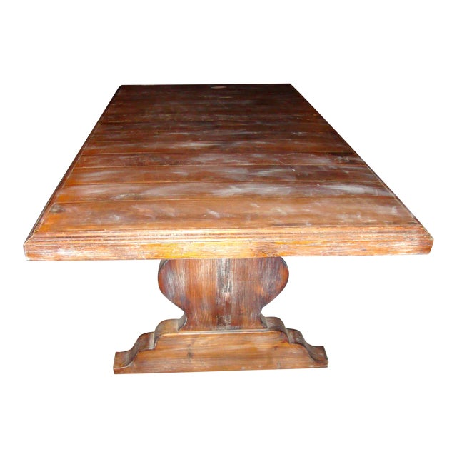 Pedestal Wrought Iron Pesky Cypress Dining Table For Sale
