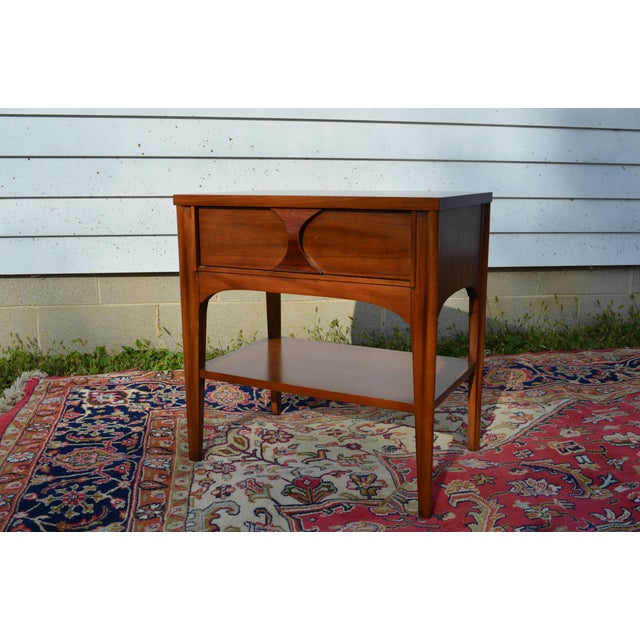 Wood 1960s Mid Century Modern Walnut and Rosewood Perspecta Night Stand by Kent Coffey For Sale - Image 7 of 12