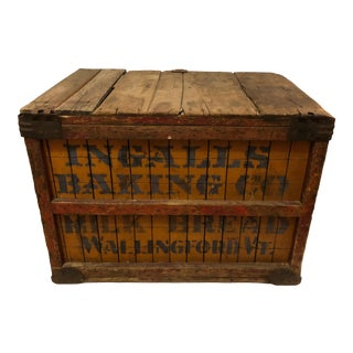 Americana Weathered Vermont Country Store Box or Bin For Sale